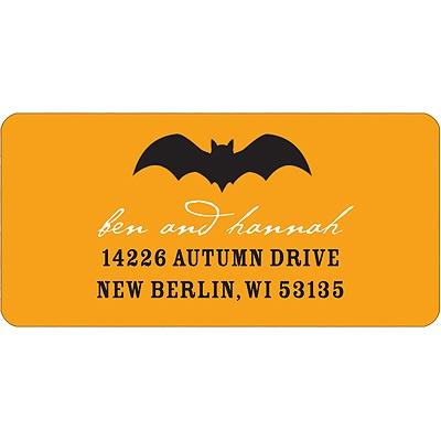 Bat Scare Halloween Address Label