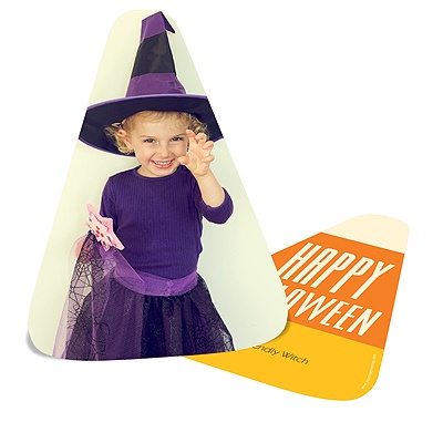 Candy Corn Cut-Out Halloween Photo Cards