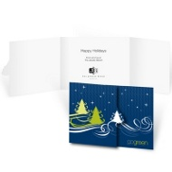 Starry Christmas Night - Business Christmas card