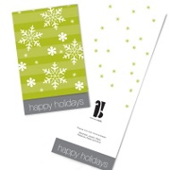 Snowflake Two-for-One Business Holiday Cards