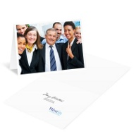 Big Photo Horizontal Business Holiday Cards