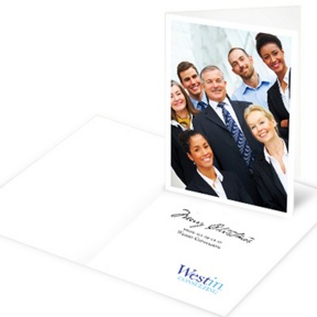 Big Photo Vertical -- Business Holiday Cards