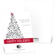 Nestled Holly Business Holiday Cards