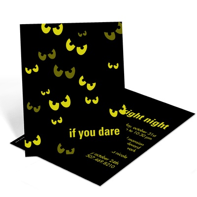 Bat Eyes Beware Scary Halloween Party Invitation