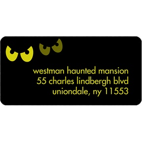 Pairs of Scary Eyes -- Halloween Address Label