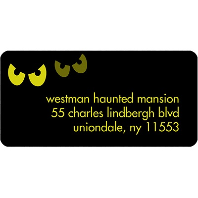 Pairs of Scary Eyes Halloween Address Label
