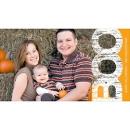 Boo Border Horizontal Halloween Photo Card