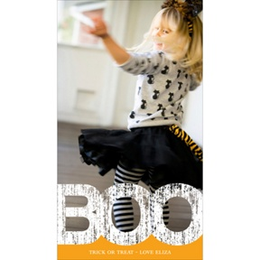 Boo Border -- Vertical Halloween Photo Card