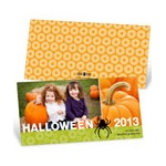 Dangling Spider -- Uniqiue Halloween Photo Card
