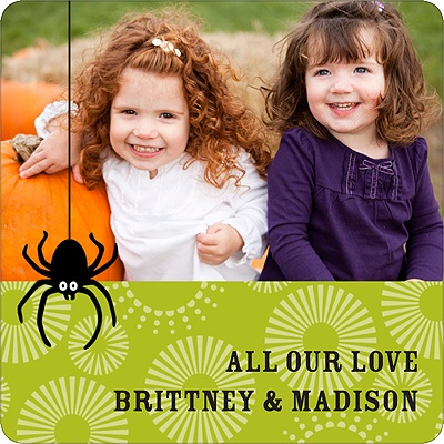 Dangling Spider Personalized Stickers