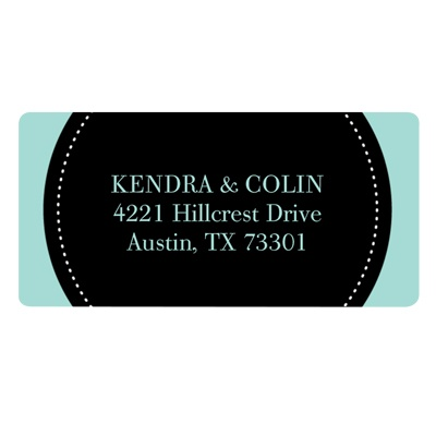 Dotted Circle -- Save the Date Address Labels