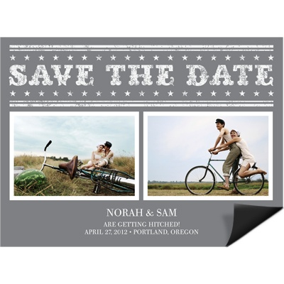 Star the Date -- Vintage Save the Date Magnet