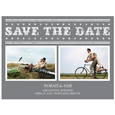Star the Date -- Vintage Save the Date