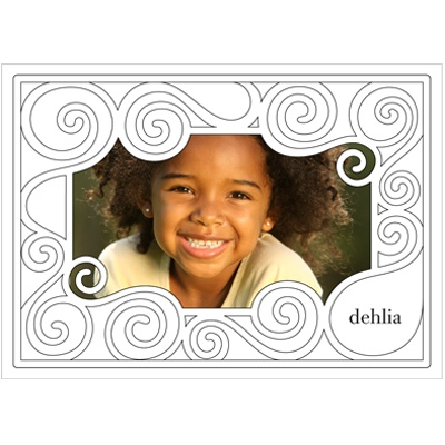 Playful Coloring Swirls -- Kids Thank You Cards