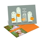 Ghostly Sight -- Halloween Photo Postcard