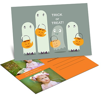 Ghostly Sight Halloween Photo Postcard