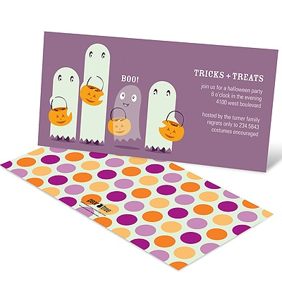 Ghostly Fun Halloween Party Invitations