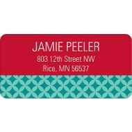 Snowman  Picture Face Address Label