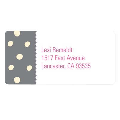 Polka Dots and Scallops Custom Address Labels