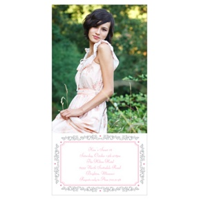 Sweet and Chic -- Sweet 16 Photo Invitation