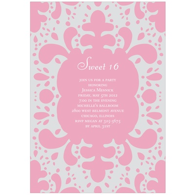 Modern Splash -- Sweet 16 Party Invitations