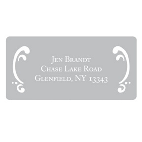 Curled Up in Elegant -- Address Labels