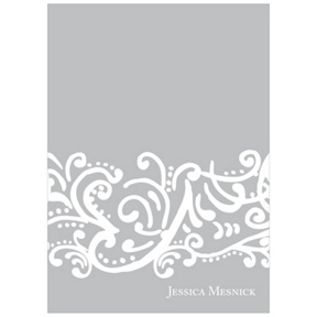 Curled Up in Elegant -- Sweet 16 Thank You Cards
