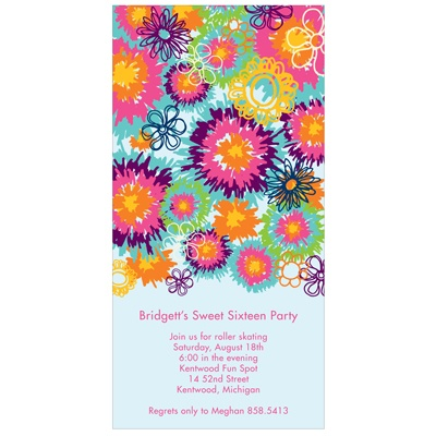 Flower Power -- Sweet 16 Party Invitations