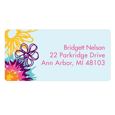 Flower Power Address Labels