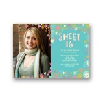 Whimsical Collage -- Sweet  16 Photo  Invitations