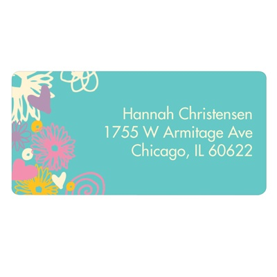 Whimsical Collage Address Labels