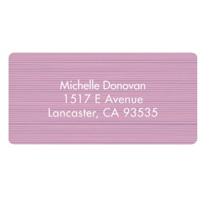 Etched in Wood -- Address Label
