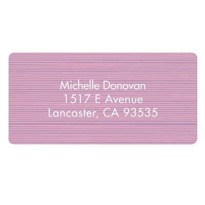 Etched in Wood Address Label