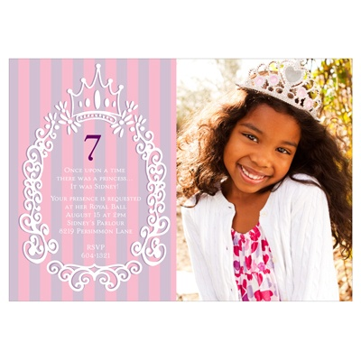 Fit for a Princess Princess Birthday Party Invitations