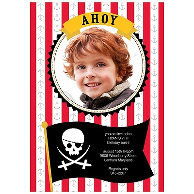 Ahoy Mate! Pirate Party Invitations