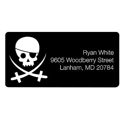 Pirate Perfection Kids Address Labels