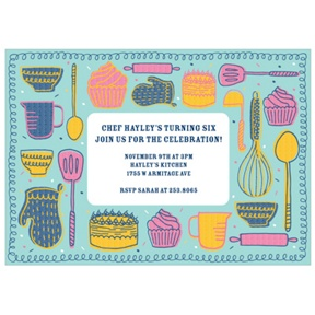 Kitchen Confections -- Custom Kids Birthday Invitations