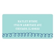 Swirl Border - Kids Address Labels