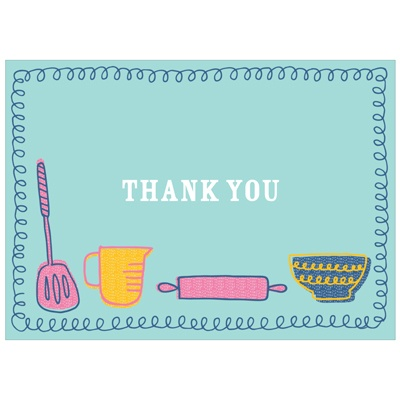 Kitchen Confections Kids Thank You Cards