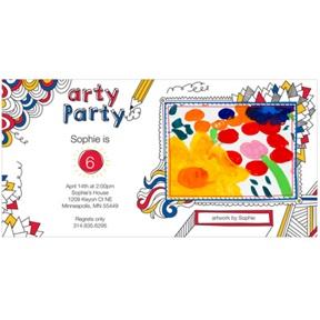 Imaginative Art -- Photo Kids Birthday Invitations