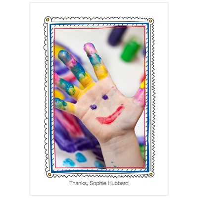 Imaginative Art Personalized Kids Thank You Card