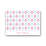 All Argyle in Pink -- Kids Thank You Card