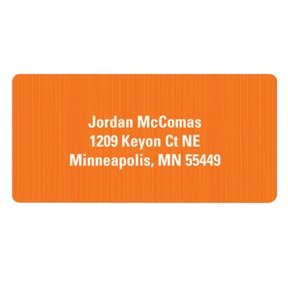 Vertical Texture in Orange -- Kids Address Labels