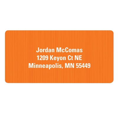 Vertical Texture in Orange Kids Address Labels