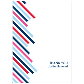 Striped Endings -- Kids Thank You Cards