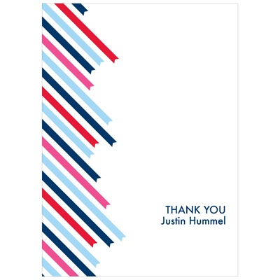 Striped Endings Kids Thank You Cards