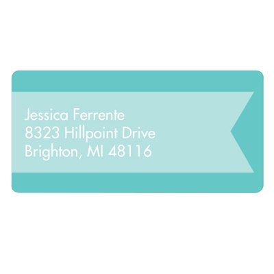 Aqua Ribbon Kids Address Labels