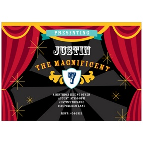 Star of the Show -- Magic Birthday Invitations