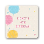 Criss-cross Balloons for Girls -- Kids Birthday Favor Stickers