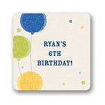 Criss-cross Balloons for Boys -- Kids Birthday Favor Stickers